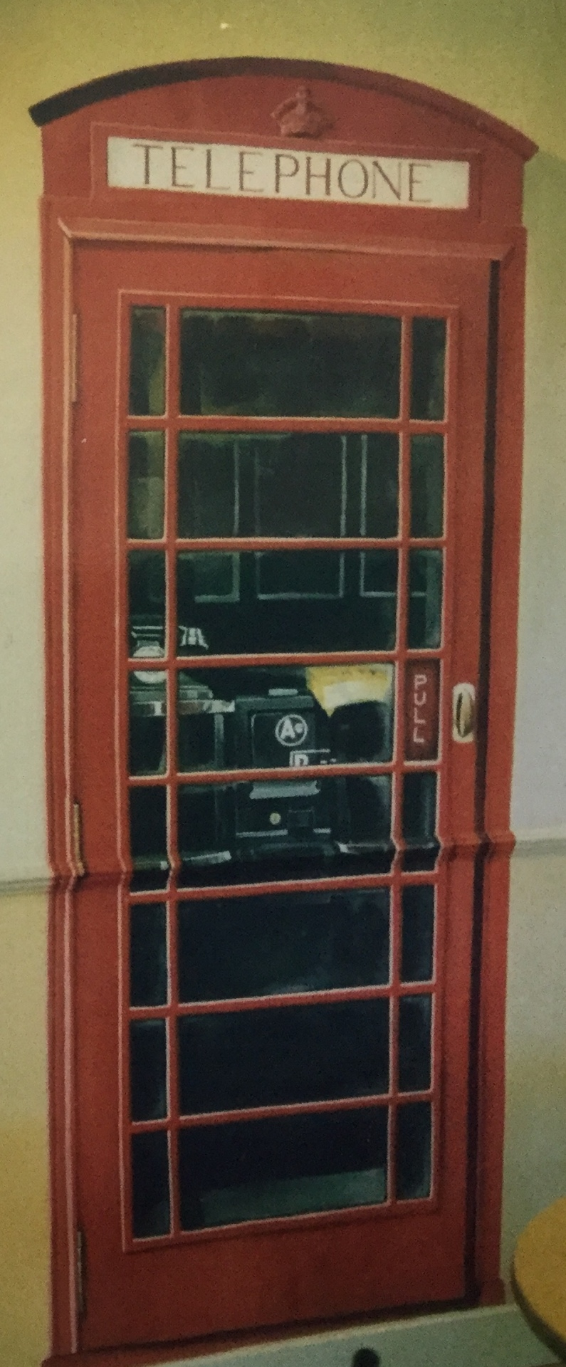 1950's style Telephone Kiosk, painted in the Cafe at Leeming Motel